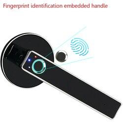 Blokada z użyciem linii papilarnych inteligentne hasło drzwi ze stali nierdzewnej bezpieczeństwo w domu blokuje ładowanie USB
