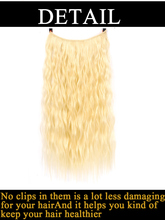 No Clip In Hair Extensions Curly Synthetic