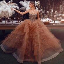 Sodigne блестящие вечерние платья 2020 бальное платье с блестками