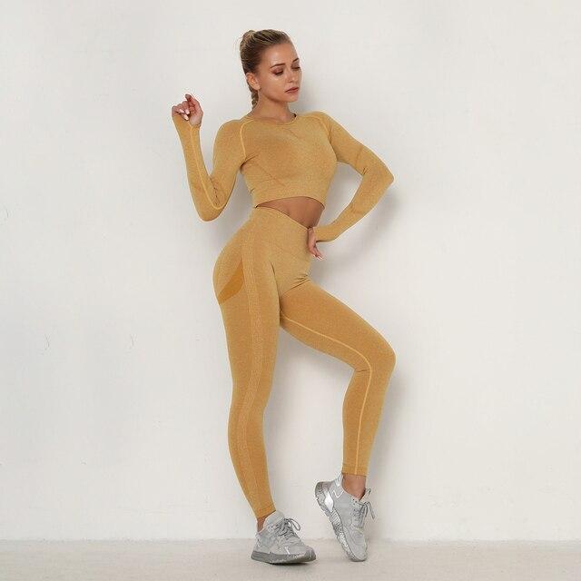 Seamless Yoga Pants Push Up Leggings Women Gym Sport Fitness Yoga High Waist Legging  Squat Proof Sports Energy Workout Leggins