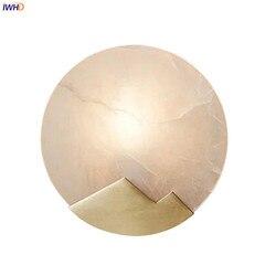IWHD Nordic luksusowe miedzi kinkiet lampa pokój dzienny łazienka lustro światła nowoczesna Mable kinkiety kinkiety aplikacja Murale oprawa