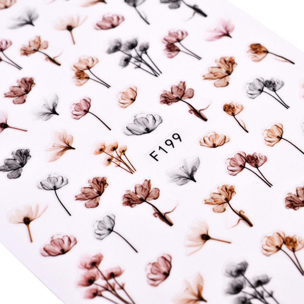 DIY 3D Dandeli цветок Маникюр Клей для накладных ногтей наклейки украшения