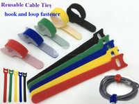 50 stücke 12*200mm Nylon Mehrweg Kabelbinder mit Öse Löcher zurück zu zurück kabelbinder nylon haken schleife verschluss management