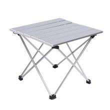 Mesa plegable de aluminio para exteriores, mesa de barbacoa portátil para acampar, Mini mesa de Picnic ultraligera multifunción