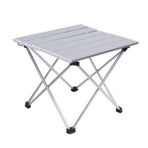 Image 1 - Outdoor Aluminium Klaptafel Camping Draagbare Barbecue Tafel Draagbare multifunctionele Ultra Licht Mini Picknick Tafel