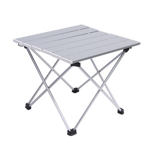 Image 1 - Outdoor Aluminum Folding Table Camping Portable Barbecue Table Portable Multi function Ultra Light Mini Picnic Table