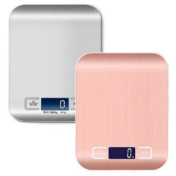 Цифровые кухонные весы, 1 г/0,1 унции, точные пищевые весы из нержавеющей стали для приготовления пищи, электронные весы для выпечки