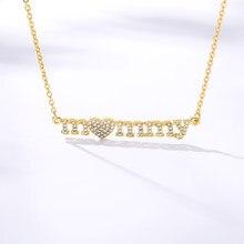 Collier-collares de letras de moda para mujer, cadena larga dorada de acero inoxidable, colgantes de mamá, día de la Madre, regalos de cumpleaños, 2020