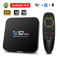 Hongtop Android 10.0 Bluetooth TV Box Voice Assistant 4K 3D Wifi 2.4G&5.8G 4GB RAM 64G Media player Very powerful Box Top Box