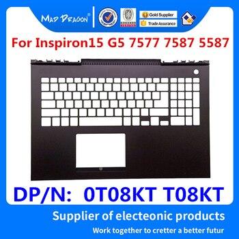 Ordenador portátil reemplazo nuevo Palmrest cubierta superior para Dell Inspiron15 G5 7577, 7587 de 5587 CKF50 AM21K000410 0T08KT T08KT