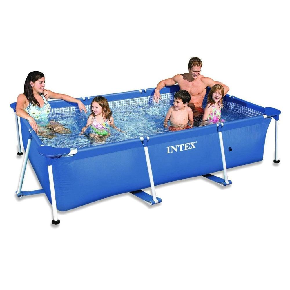 Scaffold Rectangular Pool For Garden Summer Leisure Outdoor 260x160x65 Cm, 2282 L, Intex, From 6 Years, Item No. 28271