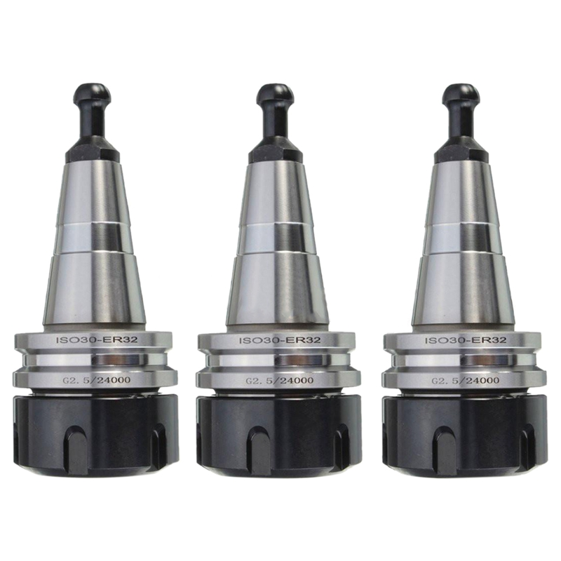 Top-3PCS Metal ISO30 ER32 50 Balance Collet Chuck G2.5 24000rpm CNC Toolholder