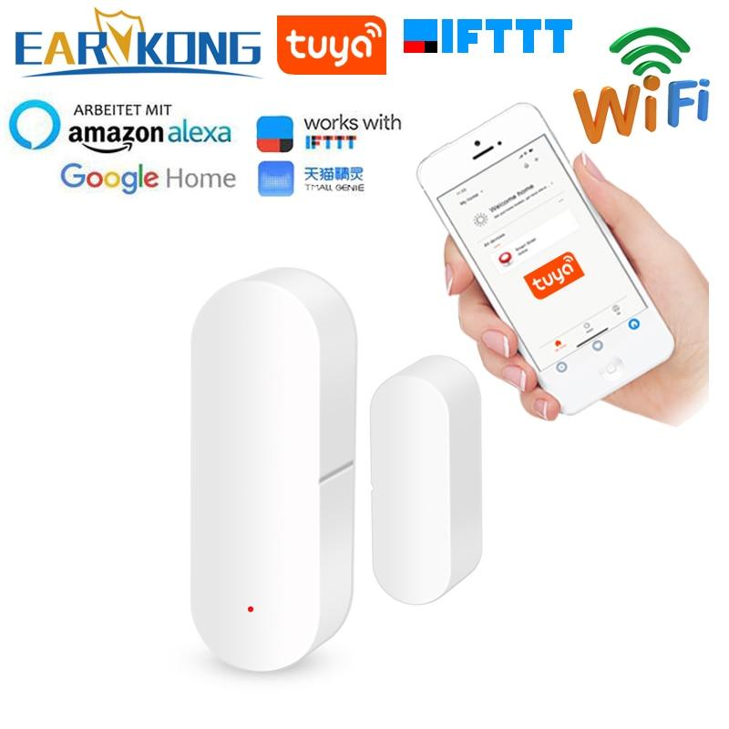 Tuya Smart WiFi Door Sensor Door Open / Closed Detectors Wifi Home Alarm Compatible With Alexa Google Home IFTTT Tuya APP
