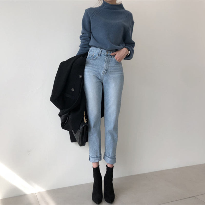 2020 Harem Pants Vintage High Waist Jeans Woman Slim Style Pencil Jean High Quality  Denim Pants Vaqueros Mujer