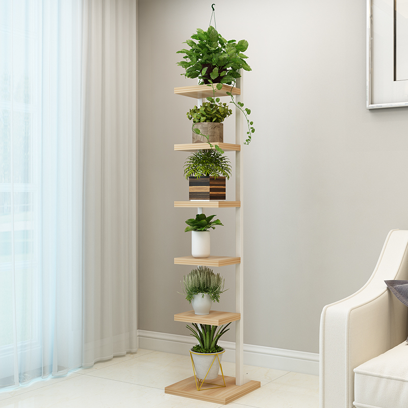 A Shavings Narrow Shelf Iron Art Multi storey Indoor Many Function Meaty Green Luo To Ground Flower Airs Bedroom Flower Rack|Plant Shelves| |  - title=