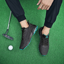 Men Breathable Mesh Golf Trainers Shoes Big Size 39-47 Anti Slip Walking Shoes Light Weight High Quality Golf Sneakers