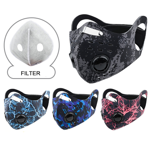 1Pcs Activated Carbon Dust-proof Breathable Mesh Bicycle Face Mask PM2.5 Dust Smog Windproof Protective Mesh 2