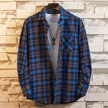 Aoliwen Men's Flannel Cotton Long Sleeve Plaid Shirt 19colors 100%cotton good quality button down casual shirt for men slim fit