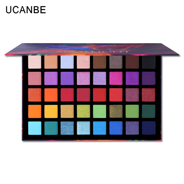 UCANBE 40 Colors Spotlight Eyeshadow Palette Shimmer Matte Pigmented Color Payoff Eye Shadow Powder Makeup Galaxy Eyeshadow Kit 1