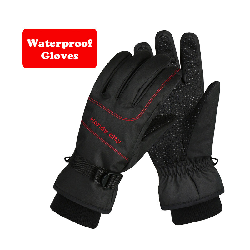 Winter Skiing Waterproof Glove Thick Warm Windproof Snow Ski Gloves Snowboard Cycling Motorcycle Anti-Cold Outdoor Sport Gloves