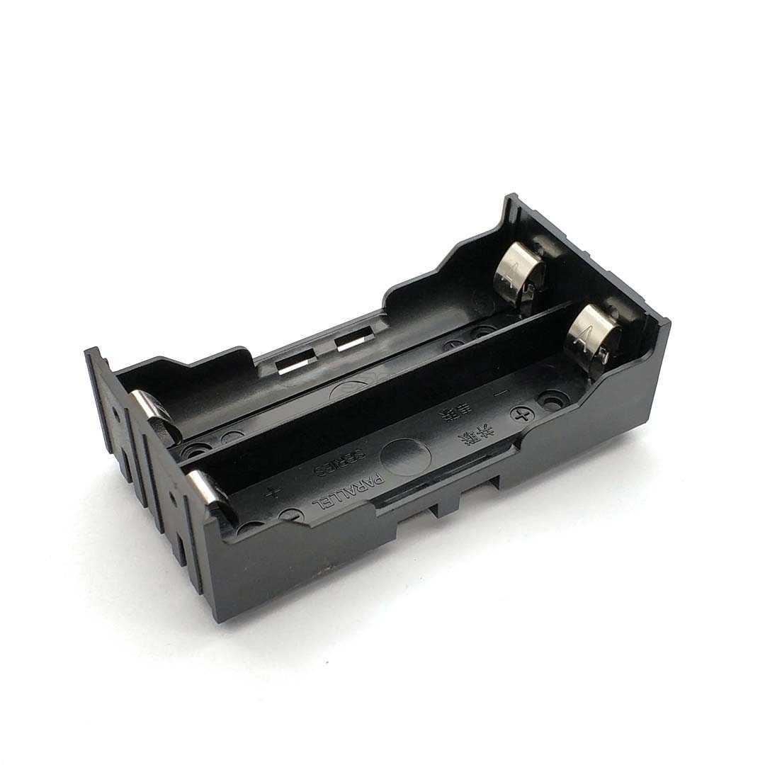 Di Plastica Fai da Te Contenitore di Batteria Al Litio Supporto Della Batteria con Spille Adatto per 2*18650 (3.7 V-7.4 V) cassa di Batteria Al Litio di Alta Qua