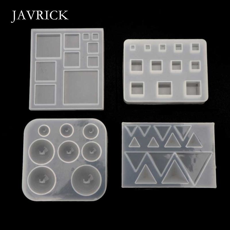 All Size Square Round Triangle DIY Geometric Resin Silicone Mold Craft Tool DIY Pendant Accessories Jewelry Making Tool(China)