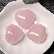 1PC Natural Rose Quartz Crystal Heart Chakra Healing Reiki Gem Home Decor DIY Gift