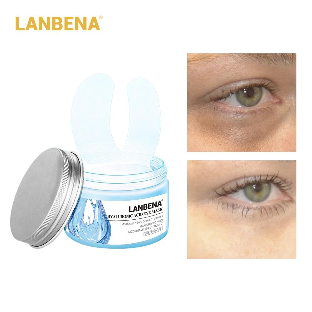 Eye-Mask Anti-Agiing-Mask LANBENA Dark-Circle Hyaluronic Collagen 50pcs 25pair Aci