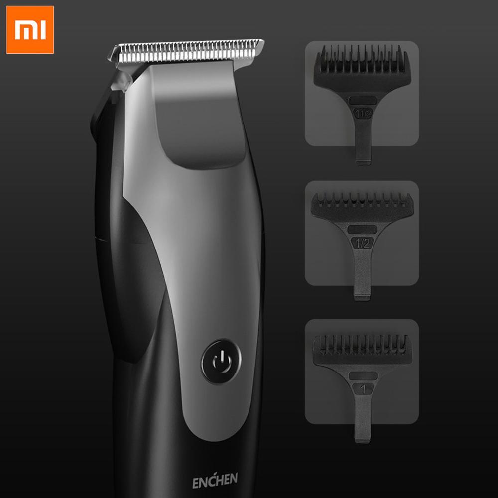 Xiaomi mijia men enchen carregamento usb aparador de pêlos barba trimer barbeador elétrico máquina de corte de cabelo em forma de t cabeça máquina de cortar cabelo