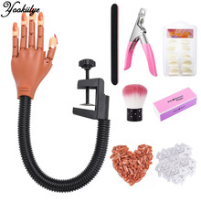 Manicure-Tool Nail-Tips Hand-Set Practice Silicone Fake-Finger DIY with False