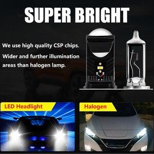 Image 4 - Cartnt 2 pces lâmpada h4 lâmpadas led mini lente led projetor faróis do carro 30000lm lampada led h4 oi/baixo feixe luzes canbus 12v lâmpada