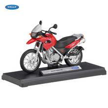 WELLY 1:18   BMW F650GS    Diecast Alloy Motorcycle Model Toy For Children Birthday Gift Toys Collection 1 18 diecast model for toyota land cruiser fj140 1977 yellow alloy toy car miniature collection gift