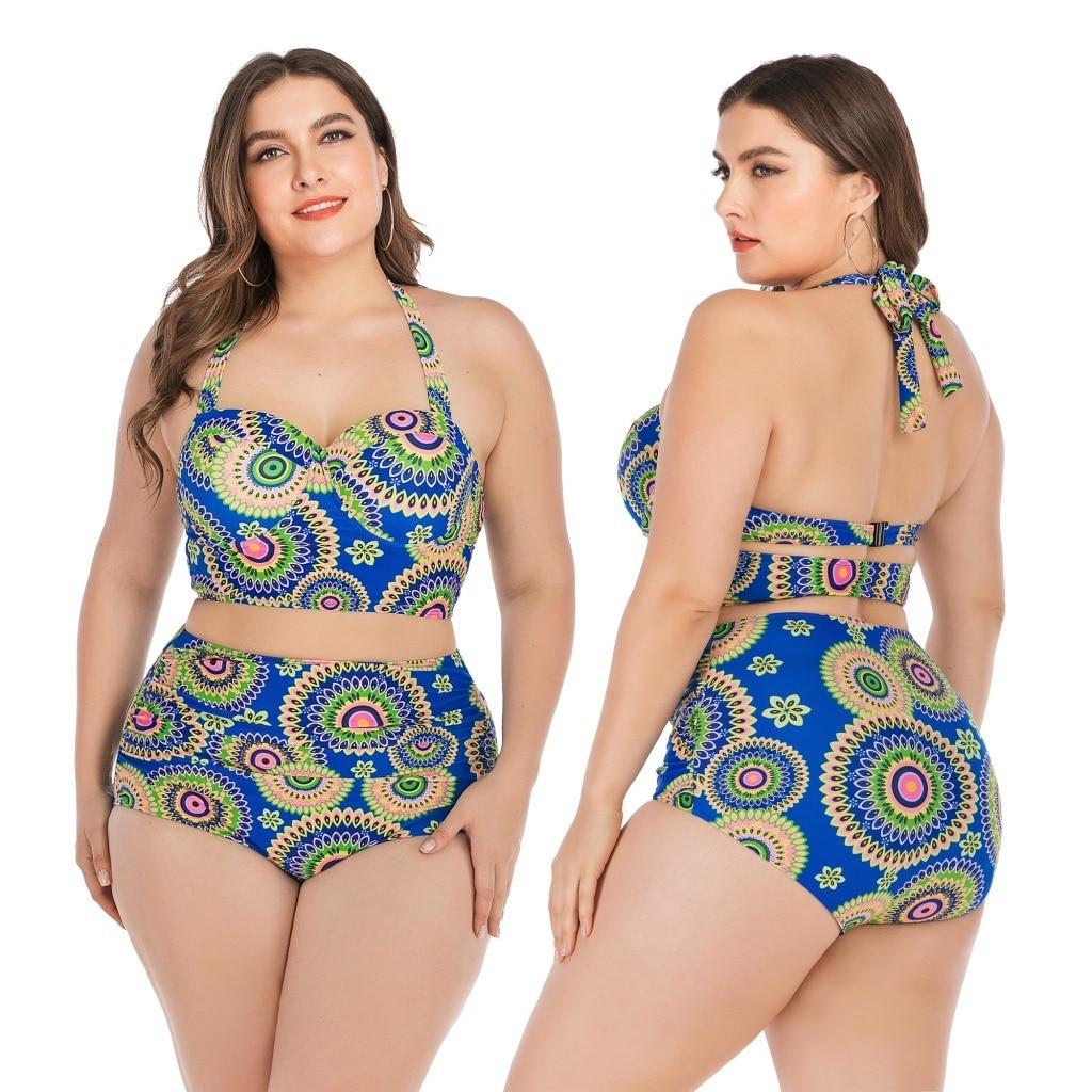 L-4xl Plus Women's Bikini Swimsuit Women's Sexy Swimsuit Women's Fashion Two Piece Set Women