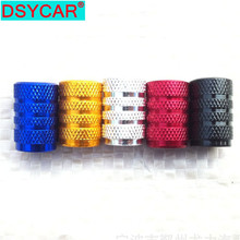 Dsycar 4Pcs/Lot universal alu-alloy tire valve caps for car truck motorcycle bicycle stem cover accessories