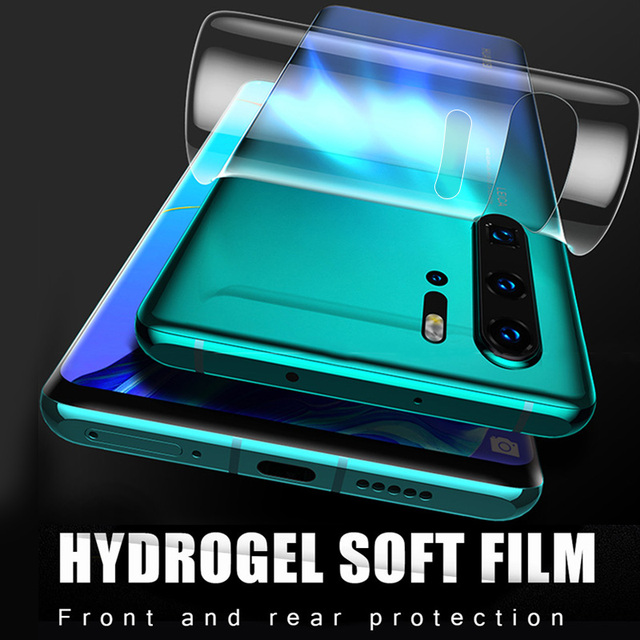 Pełna osłona ekranu dla Huawei P30 P20 Pro hydrożel Film dla Huawei Mate 20 30 Lite szkiełko aparatu Mate 10 Lite powrót Film