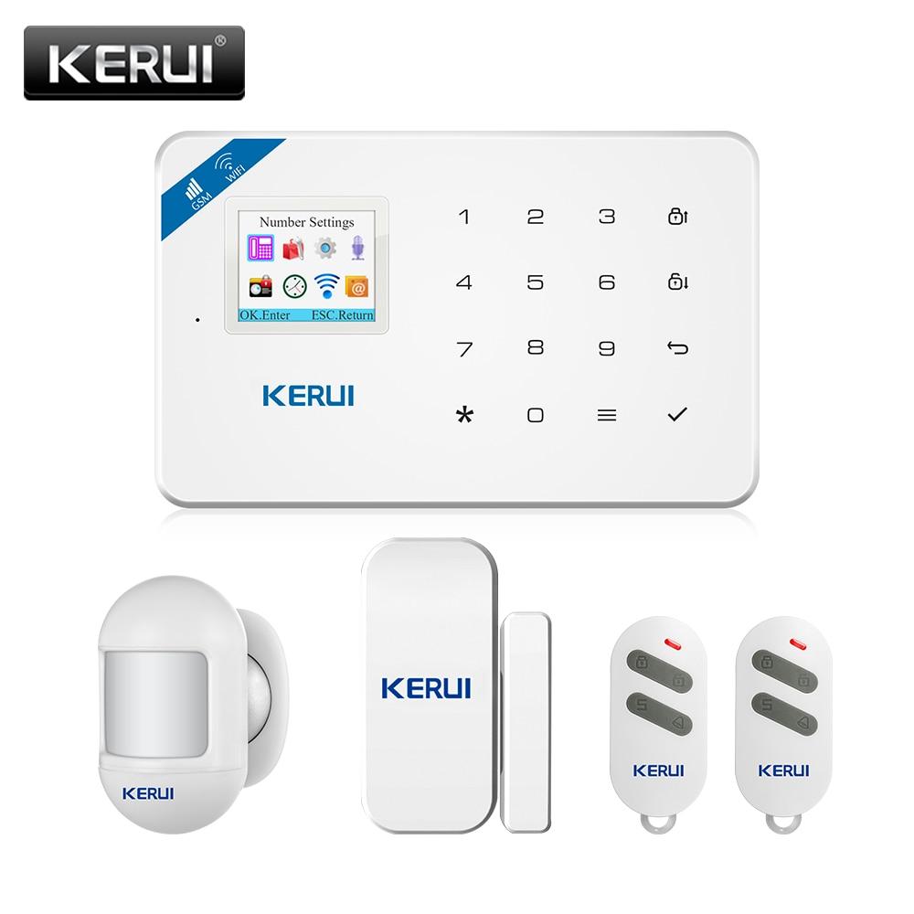 KERUI W18 WIFI GSM Arm Alarm System TFT Farbe Bildschirm Hause Sicherheit Anruf Push APP Fernbedienung Wireless Anti-pet PIR Sensor Alarm