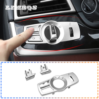 Headlight switch cover for f10 f25 f26 f01 BMW X3 X4 5 7 series head light buttons decorative frame trim stickers replacement