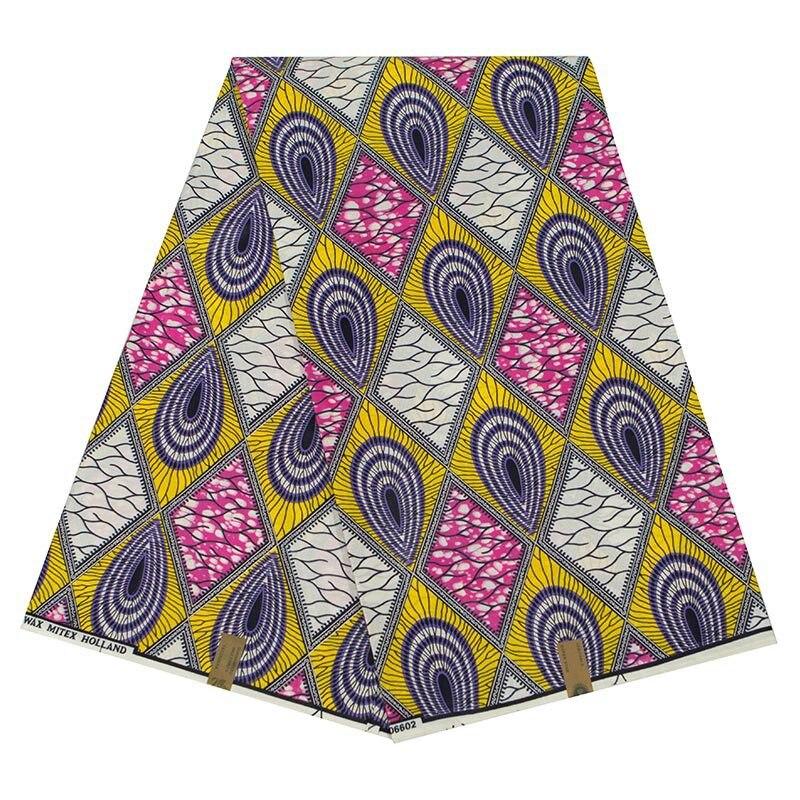 2019 Newest Arrivals Colourful Rhombus Pattern Print Fabric Guarantee Real Dutch Wax