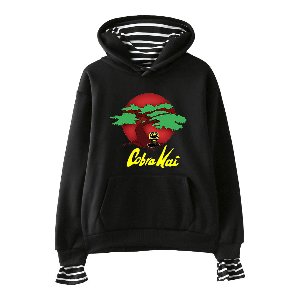 Cobra Kai Womens Winter Jacket Clothes Plus Velvet Pullover Sweatshirt Print Hoodies