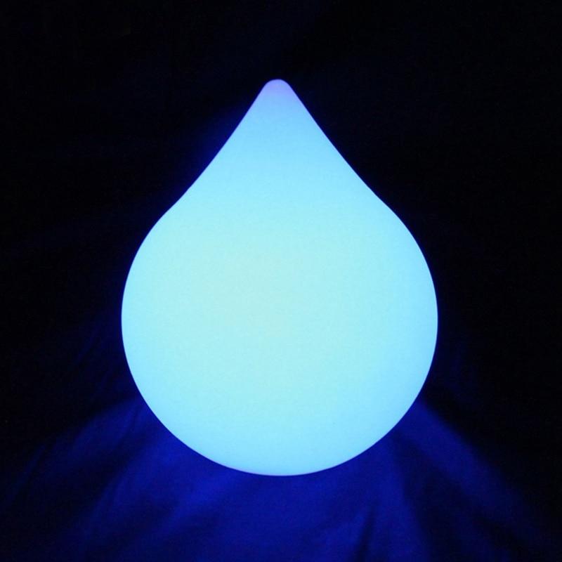 D17 * H22cm RGB Super lumineux automatique lumières colorées lueur LED larme/fusée lampe LED goutte lampe intérieur pour décor de noël 1pc