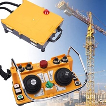 Double joysticks radio wireless F24-60 Industry remote control 1 transmitter+1 receiver 18-440V for crane and hoist nice uting ce fcc industrial wireless radio double speed f21 4d remote control 1 transmitter 1 receiver for crane