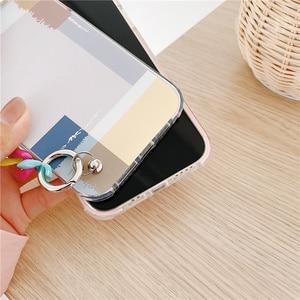 Image 5 - Art Geometric Pattern Chain Wrist Strap Phone Case For iphone 12 mini 7 8 plus X XR XS Max SE 2020 11 Pro Max Cute Soft Cover