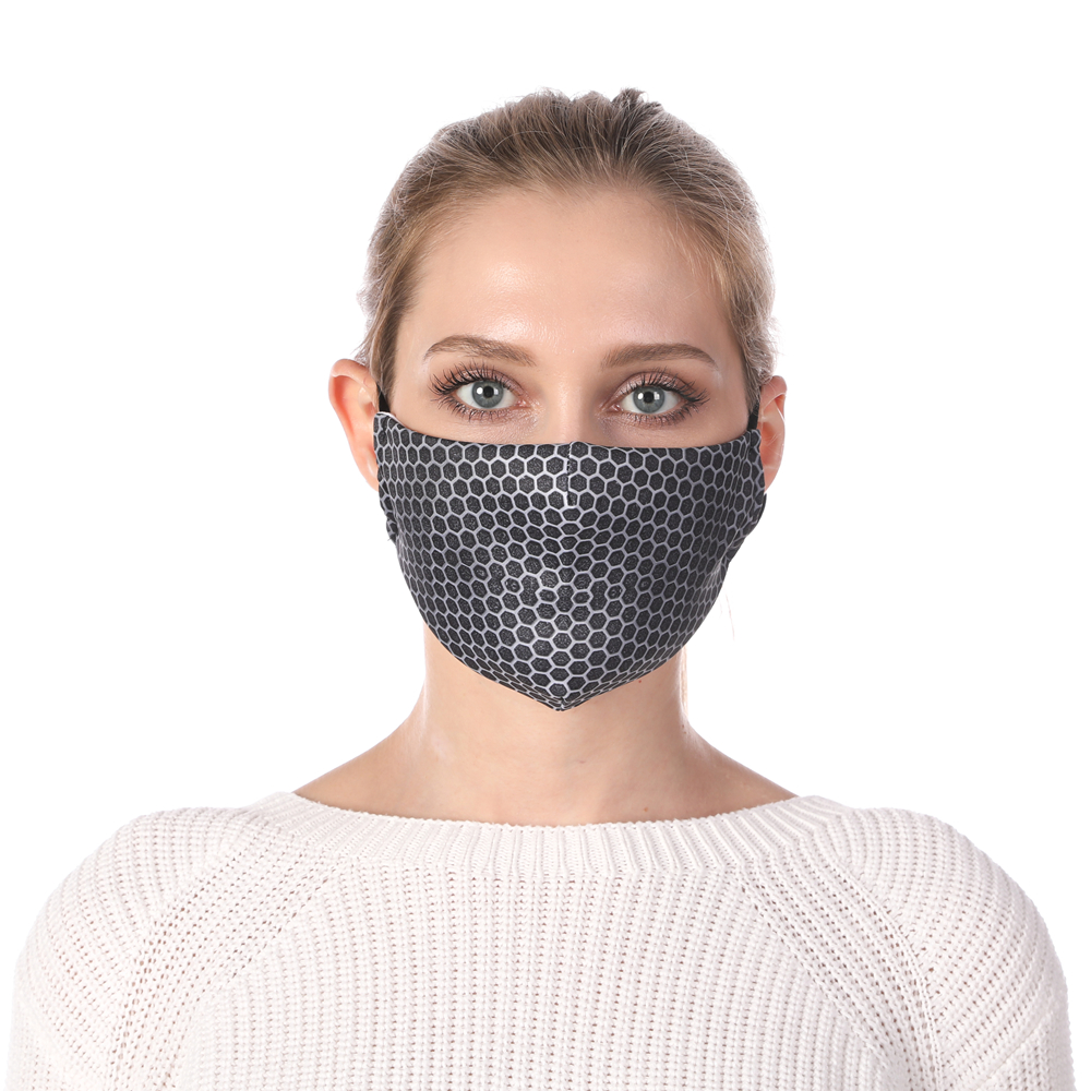 Zohra Wirecloth Printing Reusable Protective PM2.5 Filter Mouth Mask Anti Dust Mask Windproof Adjustable Face Masks
