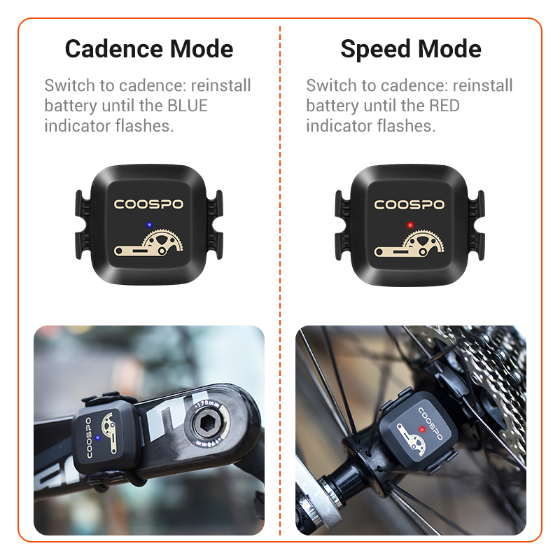 for GPS Unit Sport... CooSpo RPM Cycling Speed and Cadence Sensor Bluetooth//ANT