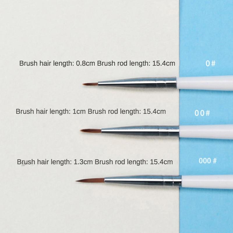 6 шт./компл. тонкая ручная краска ed тонкая ручка-крючок для рисования художественная Ручка #0 #00 #000 принадлежности художественные кисти нейлоновая кисть для рисования 2