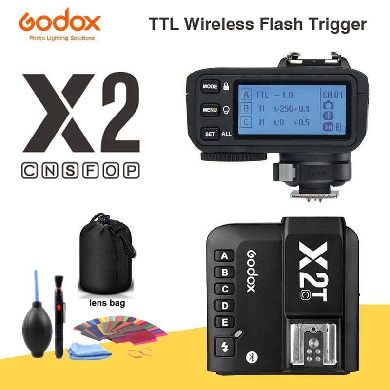 Godox X2T-C X2T-N X2T-S X2T-F X2T-O X2T-P TTL 1/8000s HSS Беспроводной триггер для вспышки для цифровой зеркальной камеры Canon Nikon Sony Fuji Olympus Pentax