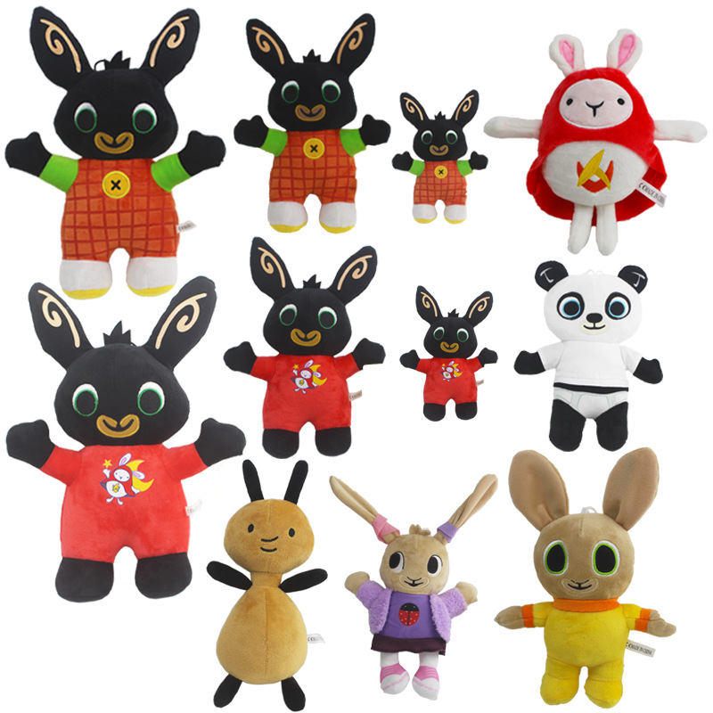 Bing Bunny Plush Toy Pendant Clip Keychain Bing Bunny Doll Toy Hoppity Voosh Stuffed Animal Pando Rabbit Toy For Christmas Gifts