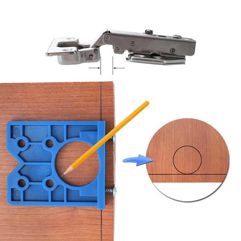 35 ミリメートルヒンジジグ ABS プラスチックヒンジインストール木材ドリルガイドヒンジ穴ボーリング家具ドアキャビネットツール大工