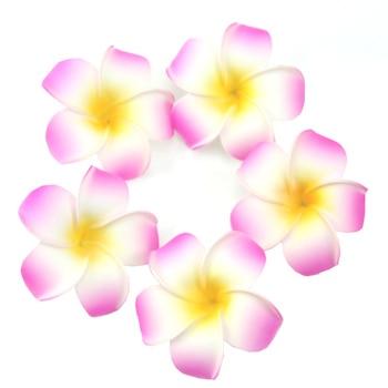 5pcs Plumeria Hawaiian Foam Frangipani Flower Wedding Party Decoration Hairpin DXAA