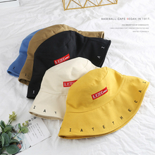 SLECKTON Casual Bucket Hat for Women Men Fashion Cotton Fisherman Letters Embroidery Fold Double Sunhats Girls Cap Unisex